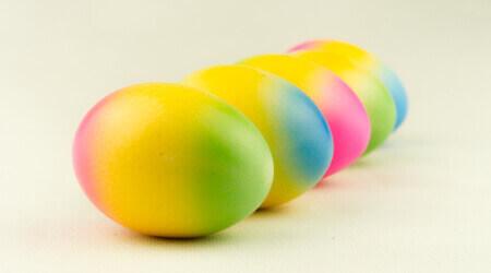 Bunte Eier - Regenbogen