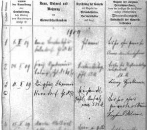 Eine Kopie des Gründungsdokuments